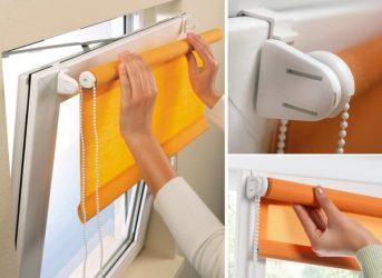 Как устанавливаются рулонные шторы на пластиковые окна?