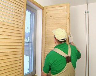 Установка жалюзийных дверей своими руками